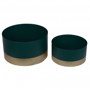 Osłonka metalowa zielono-złota 23/30 cm kpl 2 szt
