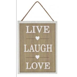 Obrazek mały z napisem Live Laugh Love15x20 cm