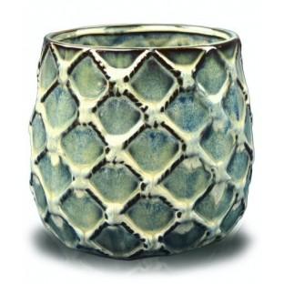 Osłonka niebiesko brązowa VINTAGE XL 19x16 cm