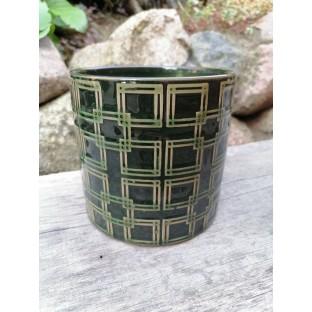 Osłonka zielona ceramiczna 16x15 cm /wz6/