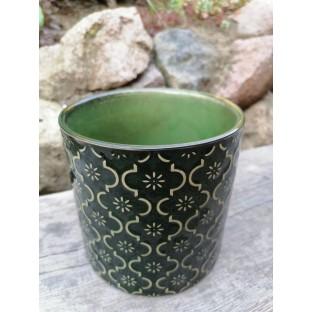 Osłonka ceramiczna zielona 13x13 cm /wz5/
