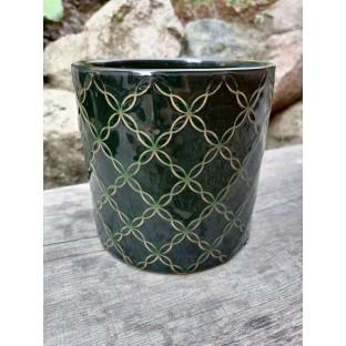 Osłonka zielona ceramiczna 16x15 cm /wz3/