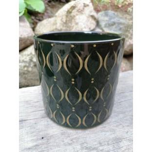Osłonka zielona ceramiczna 16x15 cm /wz2/