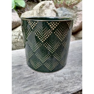 Osłonka ceramiczna zielona 13x13 cm /wz1/