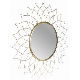 Lustro słońce złote w złotej ramie 50 cm