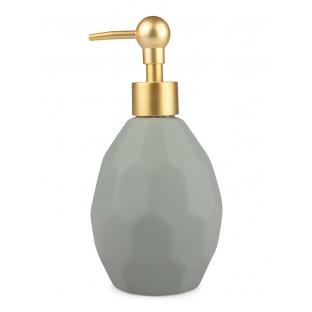 Dozownik do mydła miętowy ceramiczny nowoczesny 17 cm