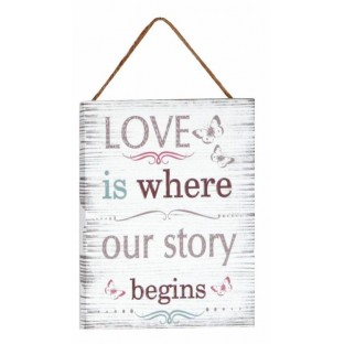 Obrazek mały z napisem 15x20 cm Love is..