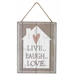Obrazek mały z napisem 15x20 cm Live Laugh..