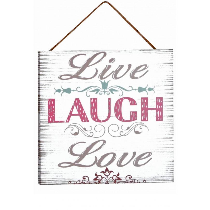 Obrazek mały z napisem Live Laugh...20x20 cm