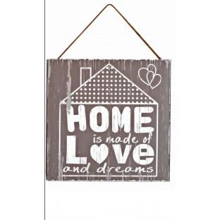 Obrazek mały z napisem Home Love...20x20 cm