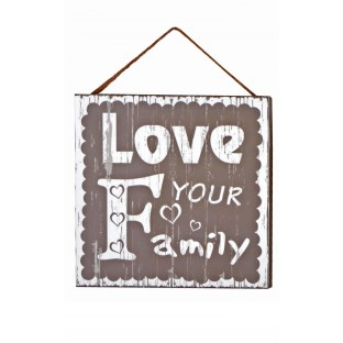 Obrazek mały z napisem Love Your Family...20x20 cm