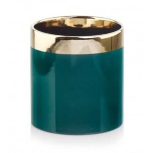 Osłonka ceramiczna GOLD turkusowa 13 cm