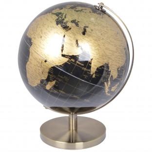 Globus średni złoto czarny średnica 20 cm