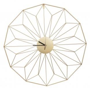 Zegar złoty metalowy okrągły ścienny 60 cm