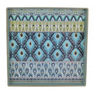 Taca kwadratowa seledynowa orientalna 35x35 cm