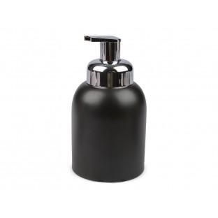 Dozownik do mydła czarny ceramiczny 16 cm