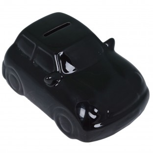 Skarbonka czarne auto ceramiczna 15x10 cm
