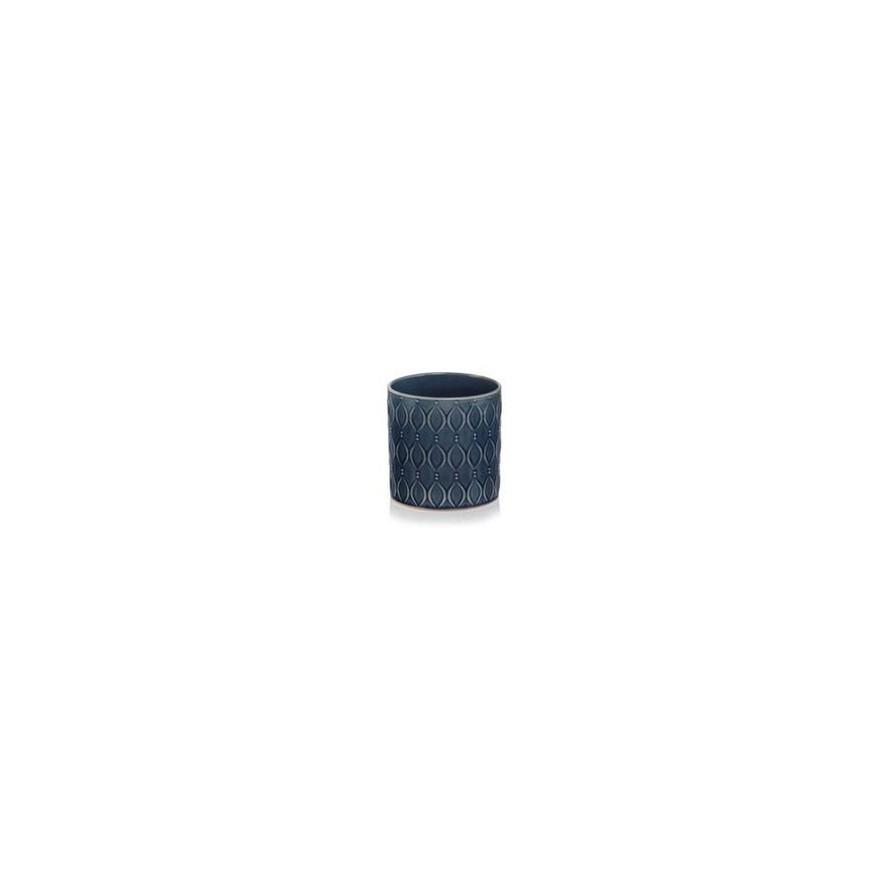 Osłonka ceramiczna niebieska kobaltowa 16x15 cm /wz4/