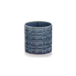Osłonka ceramiczna niebieska kobaltowa 15x16 cm /wz5/