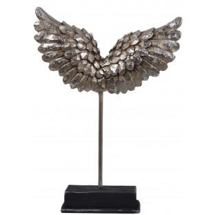 Skrzydła anioła srebrne figurka rzeźba na podstawie 23,5 cm