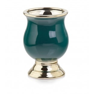 Wazon ceramiczny złoty zielony 21 cm URNA