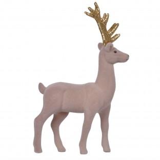 Renifer zamszowy figurka szary 29,5cm