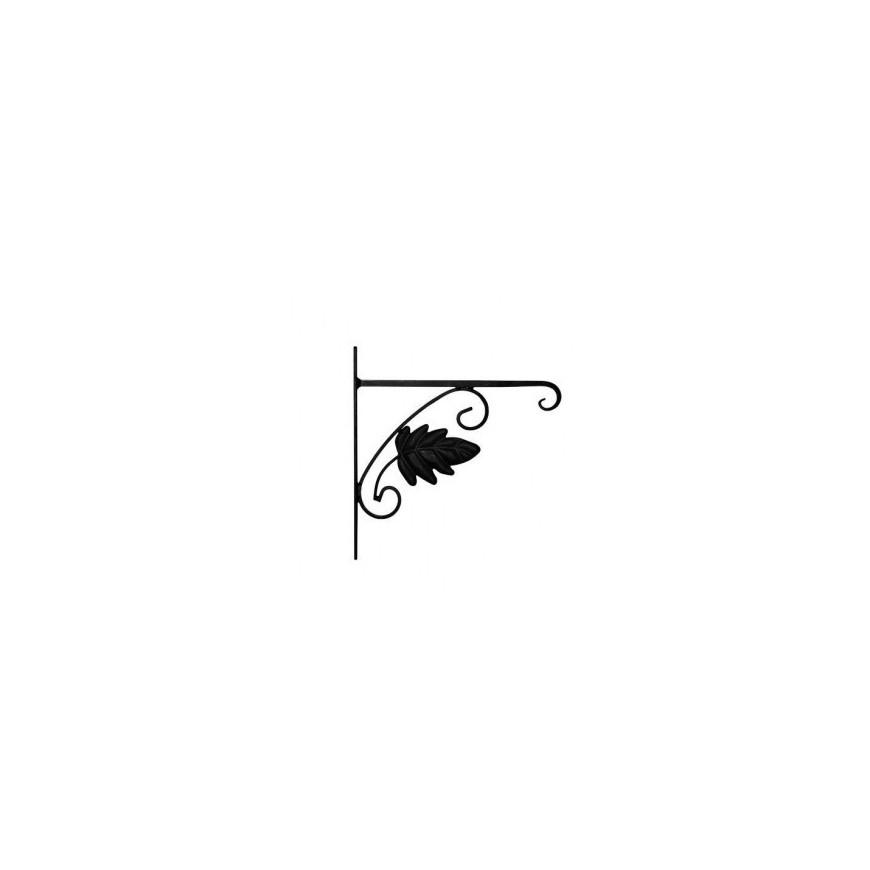 uchwyt do doniczki czarny liść