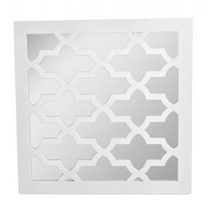 Lustro kwadratowe we wzory 39x39 cm białe