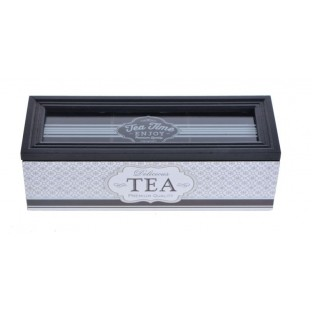 Pudełko na herbatę czarno-białe