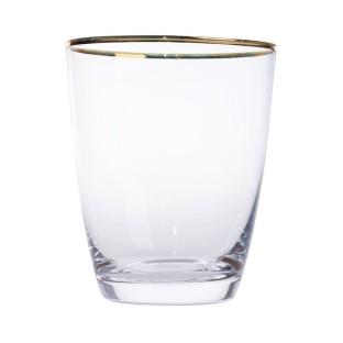 Szklanka ze złotym paskiem 6 szt.